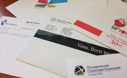 цифровая печать на конвертах